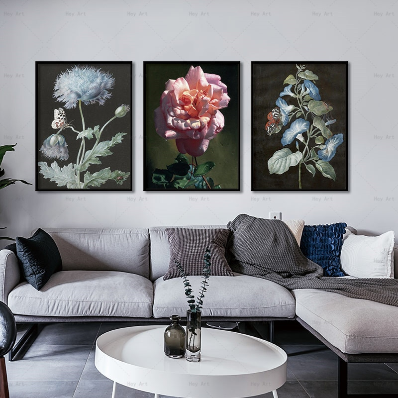 Wall Art Poster plant Flower canvas art No Frame wall pictures Canvas painting