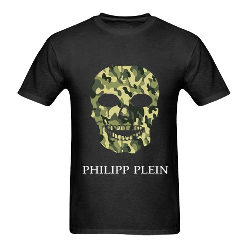 Мужская футболка в стиле хип-хоп 1Philip Plein, футболка из 100% хлопка с принтом «армейский череп», футболка унисекс, лето 2019