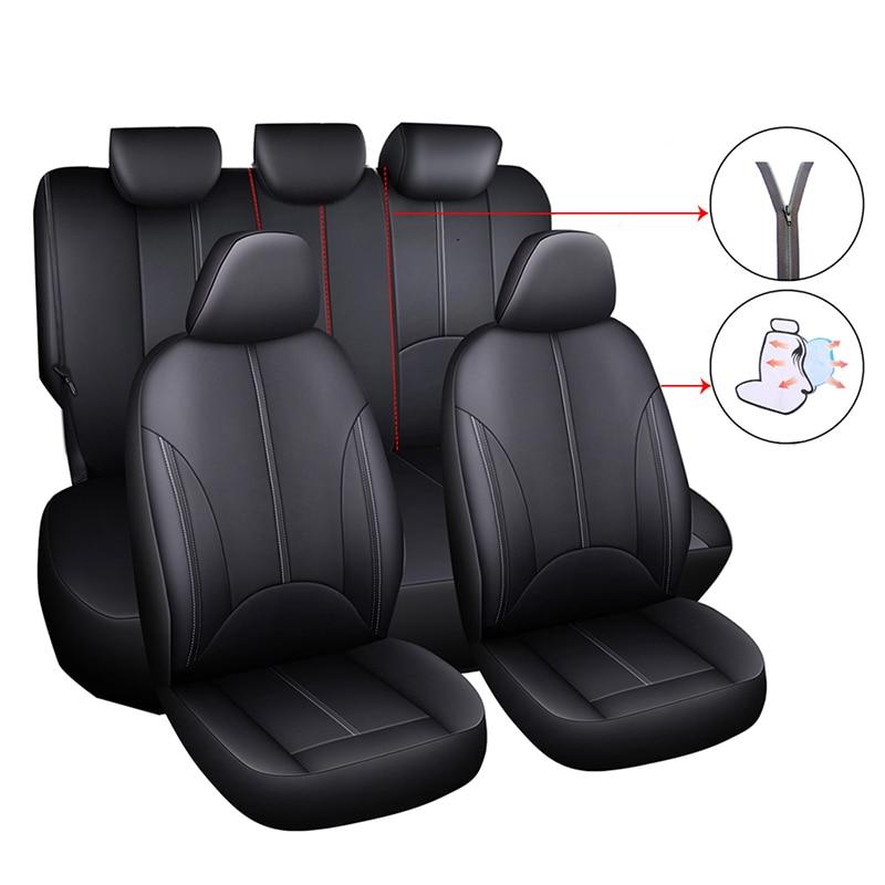 Funda Universal para asiento de coche para Toyota Corolla Verso 150 Fortuner Highlander Kluger Hilux Mark 2 2014 2015 2016 2017 2018