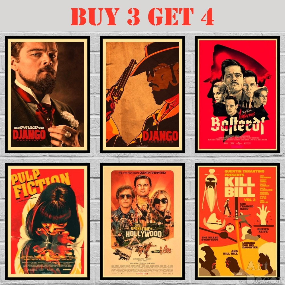 43-designs-quentin-tarantino-movie-kraft-paper-poster-painting-abstract-funny-fancy-wall-sticker-1-42x30cm