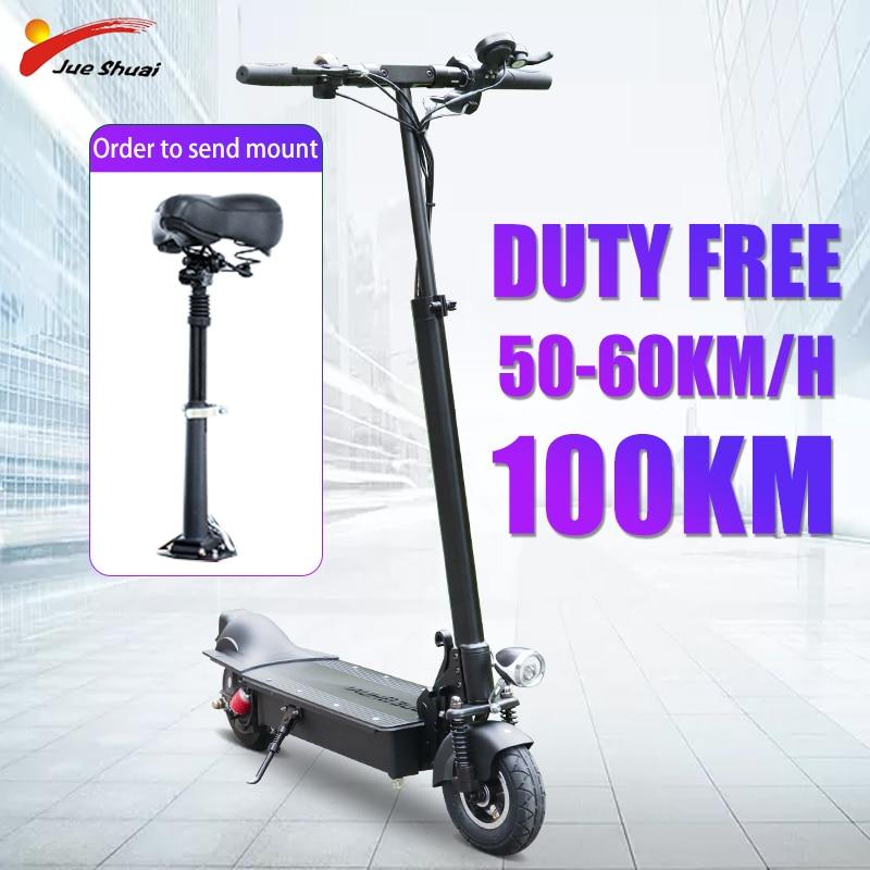 Scooter Eléctrico plegable 48V 50-60 KM/H 8 pulgadas rueda para el trabajo con asiento E Hoverboard Scooter Eléctrico Hoverboard