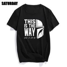 Men The Mandalorian T Shirts 2020 Summer Tops Tees Cotton Short Sleeve This Is My Way Streetwear Crew Neck T-shirts