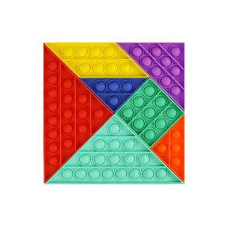 Push Pop Fidget Bubble Sensory Splicing Toy Rainbow Autism Needs Stress Reliever Toy Adult Children Anti-Stress Gift enlarge