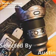 Film denveloppe dautocollant de peau de lentille pour Sigma 24-70 f2.8 E étui de protection anti-rayures de bâti