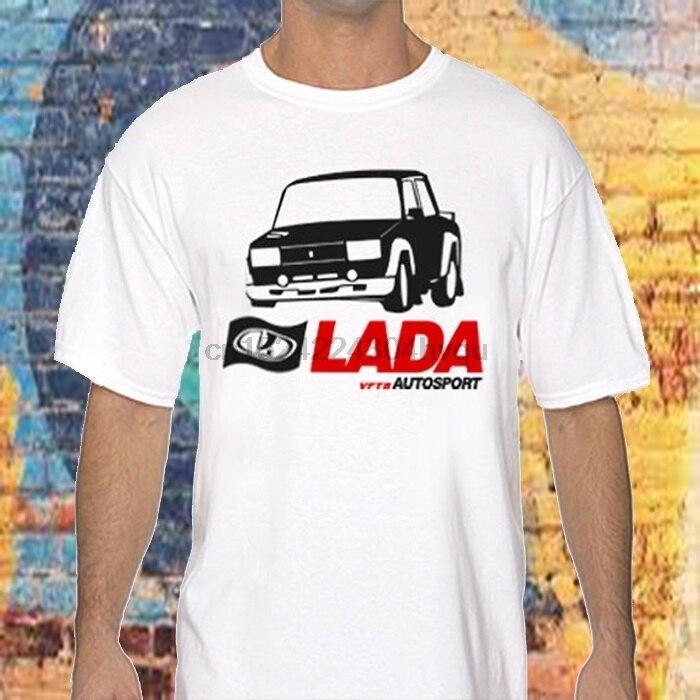 De moda de Lada VFTS Autosport Rally blanco o gris T camisa mujeres camiseta
