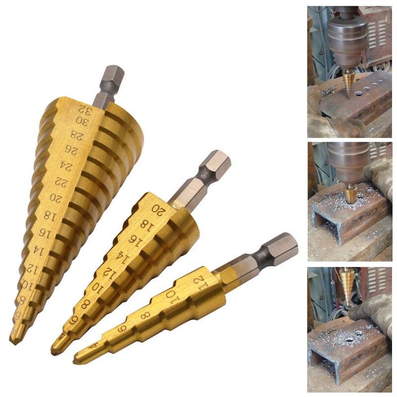 3tk HSS titaankattega astmepuur 4-12 4-20 4-32 puurimistööriistad - Puur - Foto 6
