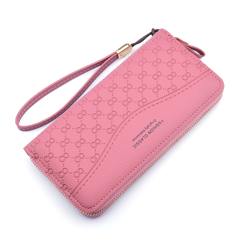 Heißer Verkauf Neue Damen Brieftasche Frauen Lange Mode Zipper Handy Tasche Große Kapazität Geprägte Multicolor