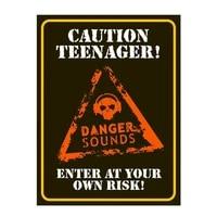 caution teenager retro tin sign metal sign metal poster metal decor metal painting wall sticker wall sign wall decor