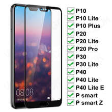 11D Protective Glass On For Huawei P20 Pro P10 Lite Plus Screen Protector Glass P30 P40 Lite E P Smart 2019 Tempered Glass Film