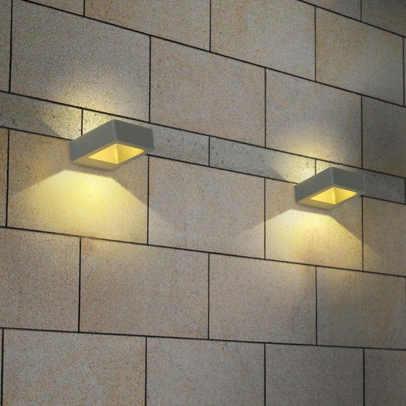 exteriour impermeavel lampadas de parede ao ar livre cree led luz ao ar livre luzes