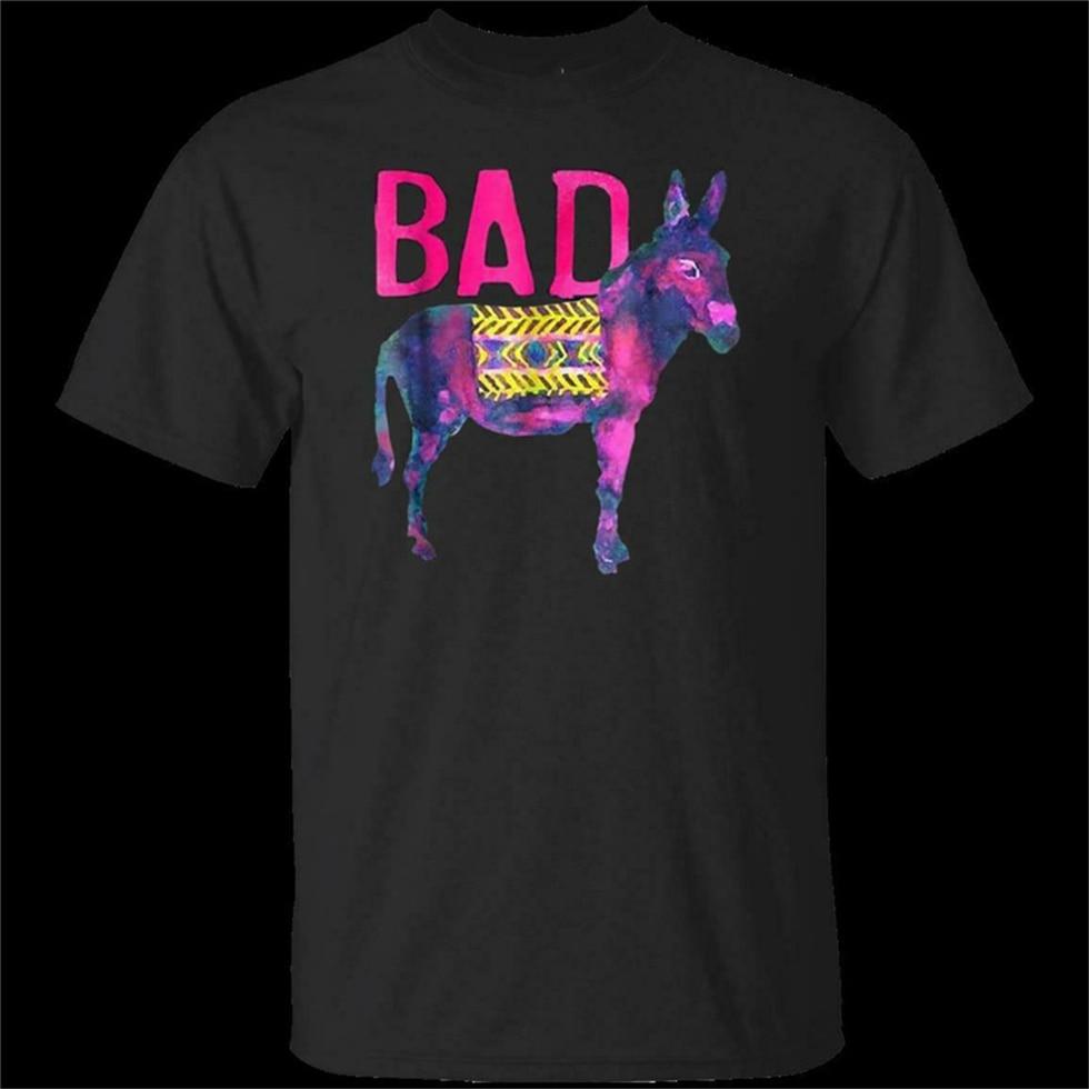 Camiseta negra divertida del burro malo hombres mujeres S 3Xl moda clásica camiseta