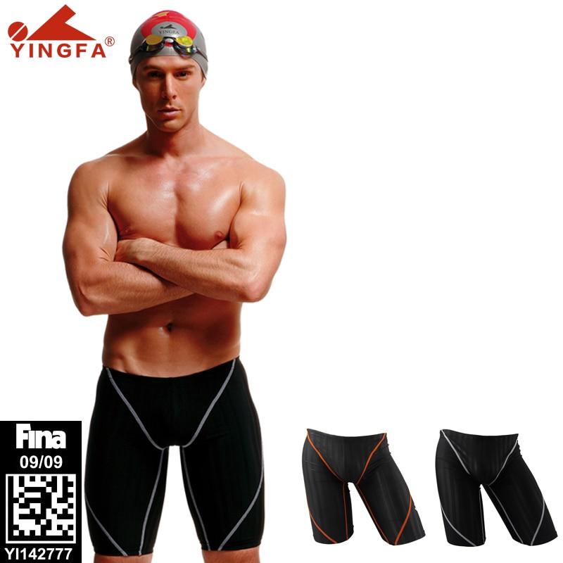 Высококачественные мужские плавки, одобренные Fina, водонепроницаемые плавки для мальчиков, устойчивые к хлору, плавки компас Yingfa