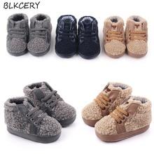 New Fashion Brand Baby Crib Shoes Newborn Footwear Toddler Baby Boys Booty Plush Shoes Anti Slip Sof