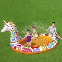 inflatable water spray swim pool giraffe swim pool water spray thickened play center outdoor summer swimming pool for kids