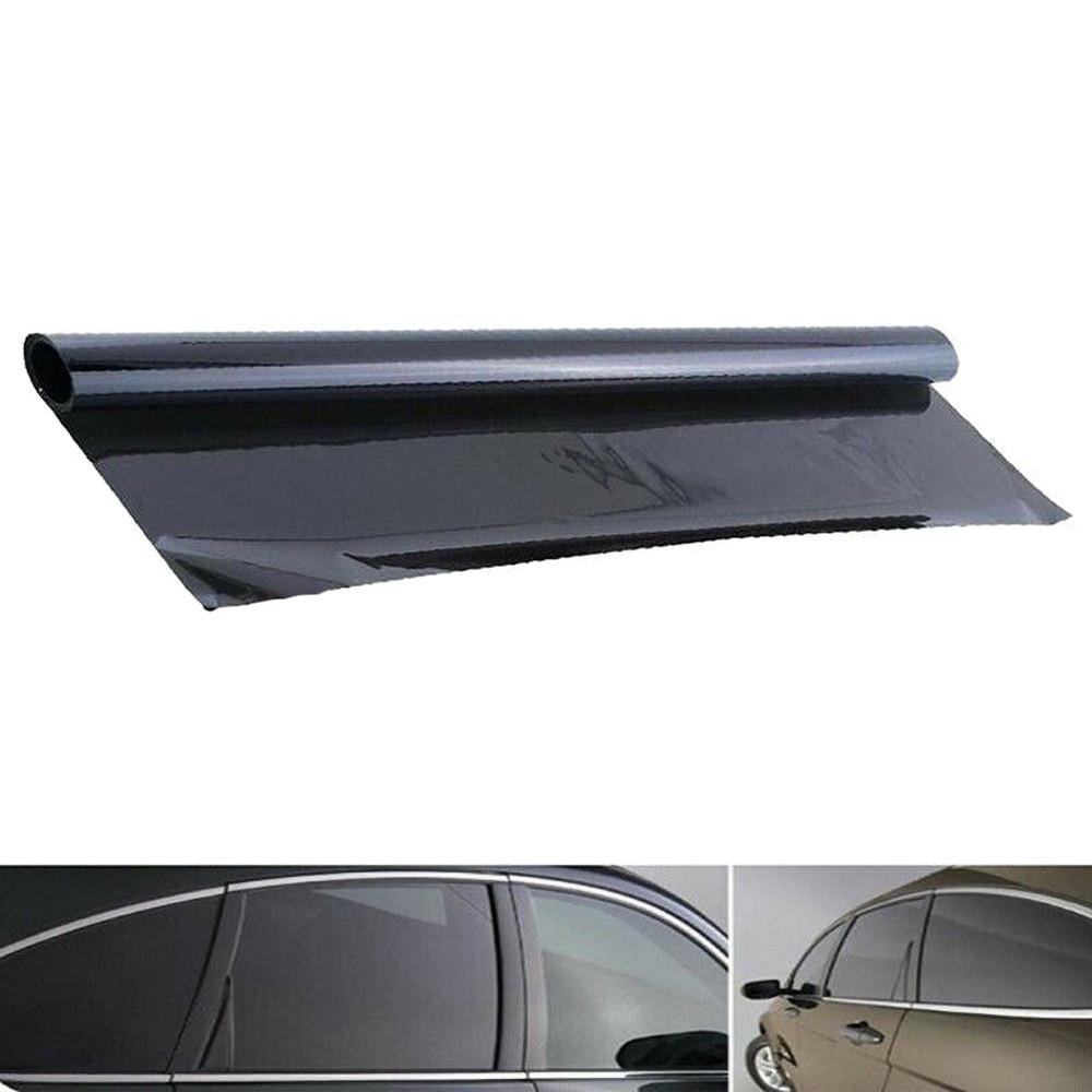 Car Window Film Auto Sun Shade Films Black Foils Tint Sticker For Car UV Protector Foils Sticker 100x50cm 5% VLT Thick Anti-wear