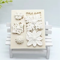 1pc flower silicone fondant molds resin molds cake decorating tools baking accessories cake pastry accessories ftm1319