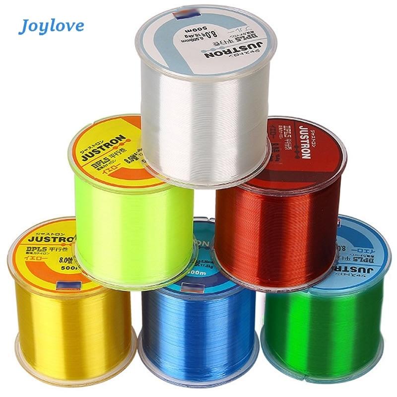 JOYLOVE 500m Nylon Fishing Line Japanese Durable Monofilament Rock Sea Daiwa Thread Bulk Spool All Size 4 Colors