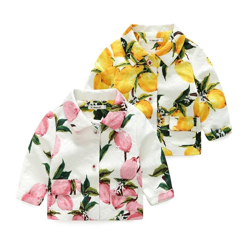 2020 ربيع الخريف الفتيات سترة ملابس الأطفال موضة الفتيات معطف جاكيت أطفال النمط الأوروبي الاطفال ملابس خارجية للفتيات