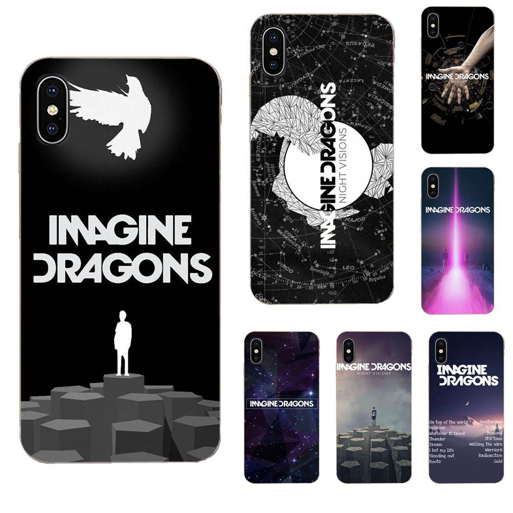Para Galaxy Grand A3 A5 A7 A8 A9 A9S On5 On7 Plus Pro estrella 2015, 2016, 2017, 2018 TPU Impresión de música imaginar dragones música