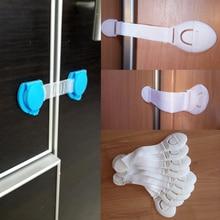 Cerraduras de seguridad para puertas de cajones, cerraduras de plástico para el cuidado de la seguridad de los niños y bebés, correas de protección para bebés, 10 unids/lote