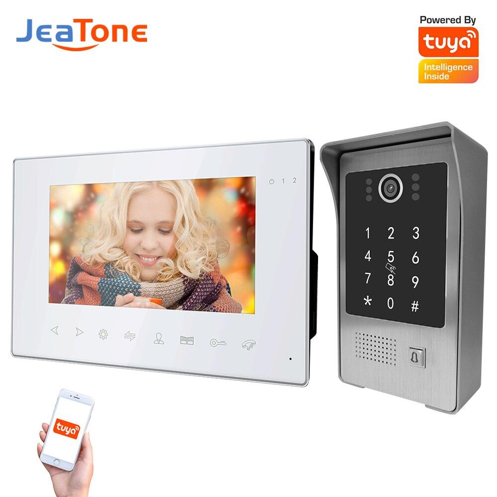 Jeatone الذكية فيديو نظام اتصال داخلي واي فاي للمنزل شقة الأمن كلمة السر تويا عن بعد فتح تتفاعل 960P 1.3MP