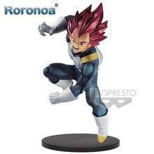 RORONOA Original Banpresto Dragon Ball Super sang de Saiyan BOS SP7 Super Saiyan dieu végéta cheveux rouges figurine modèle jouets