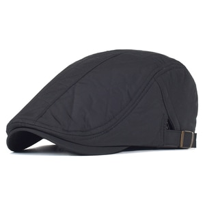 Winter Warm Thick Beret Hat Gatsby Newsboy Ivy Caps Driving Cabbie Hunting Cap Plain Flat Cap