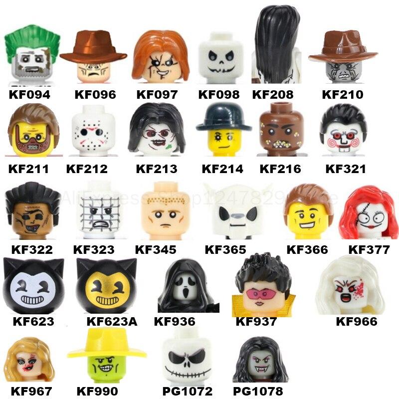 2021 Экшн-фигурки героев серии Хэллоуин, фигурки, голова MOC, детские игрушки для детей, подарок на Хэллоуин, WM6101 WM6102