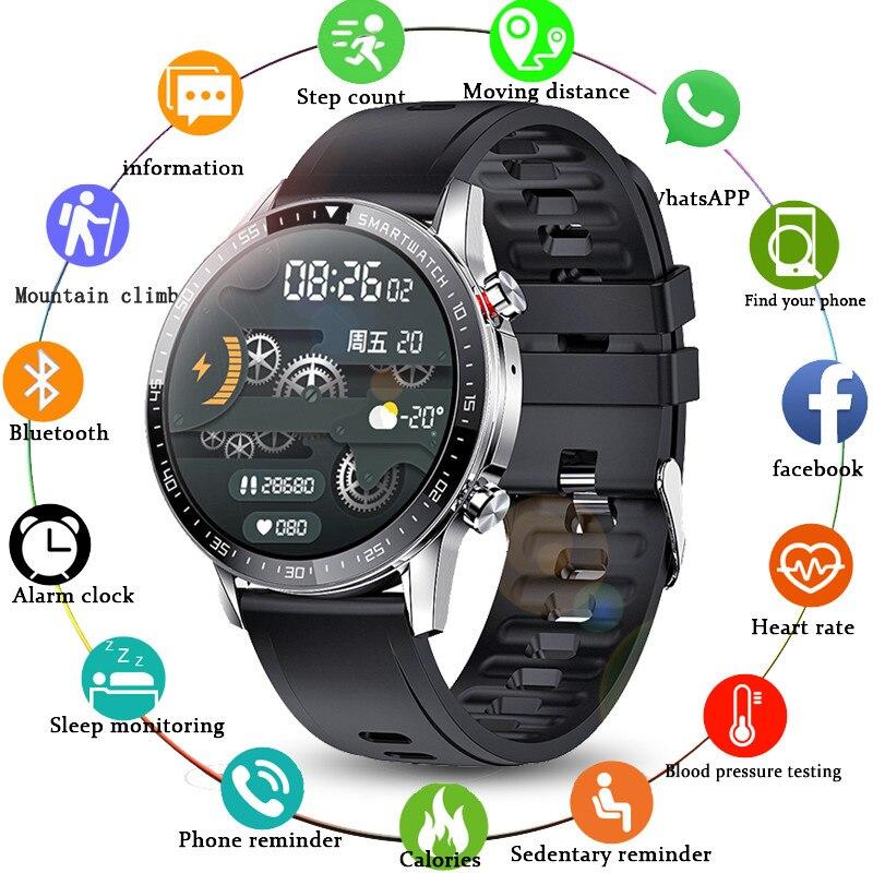 LIGE Bluetooth Phone Smart Watch Men Waterproof Sports Fitness Watch Health Tracker Weather Display