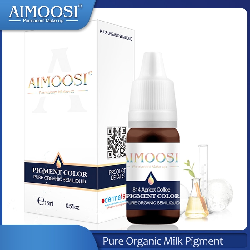 Aimoosi tattoo permanent makeup eyebrow ink permanent tattoo pigment Nano pure organic microblading lip tattoo ink color aimoosi top concentrated eyebrow micro pigment for permanent makeup tattoo eyebrow microblading pigment combination tattoo ink