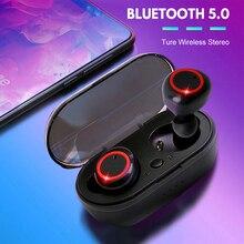 Auriculares TWS A2, inalámbricos por Bluetooth 5,1, Auriculares deportivos impermeables con cancelación de ruido y micrófonos para videojuegos