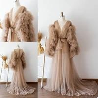 womens robe underwear bridal bathrobe tulle pajama shooting wedding pregnancy mesh bathrobe