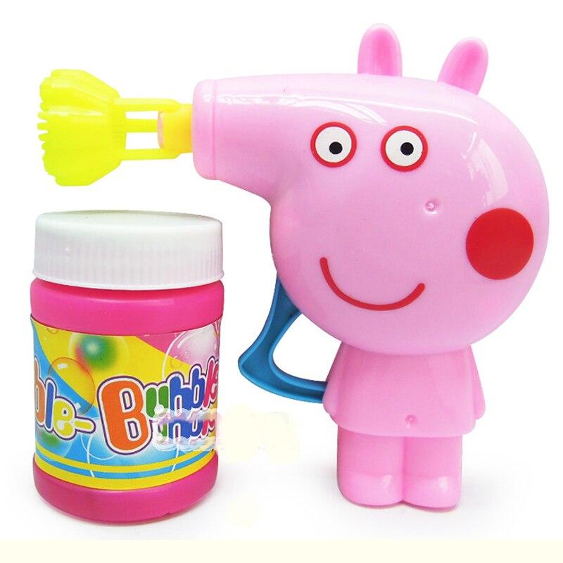 5 Colors Water Blowing Toys Bubble Gun Soap  Machine Bubble Blower Outdoor Kids Toys Parent-child interactive Non-electronic toy