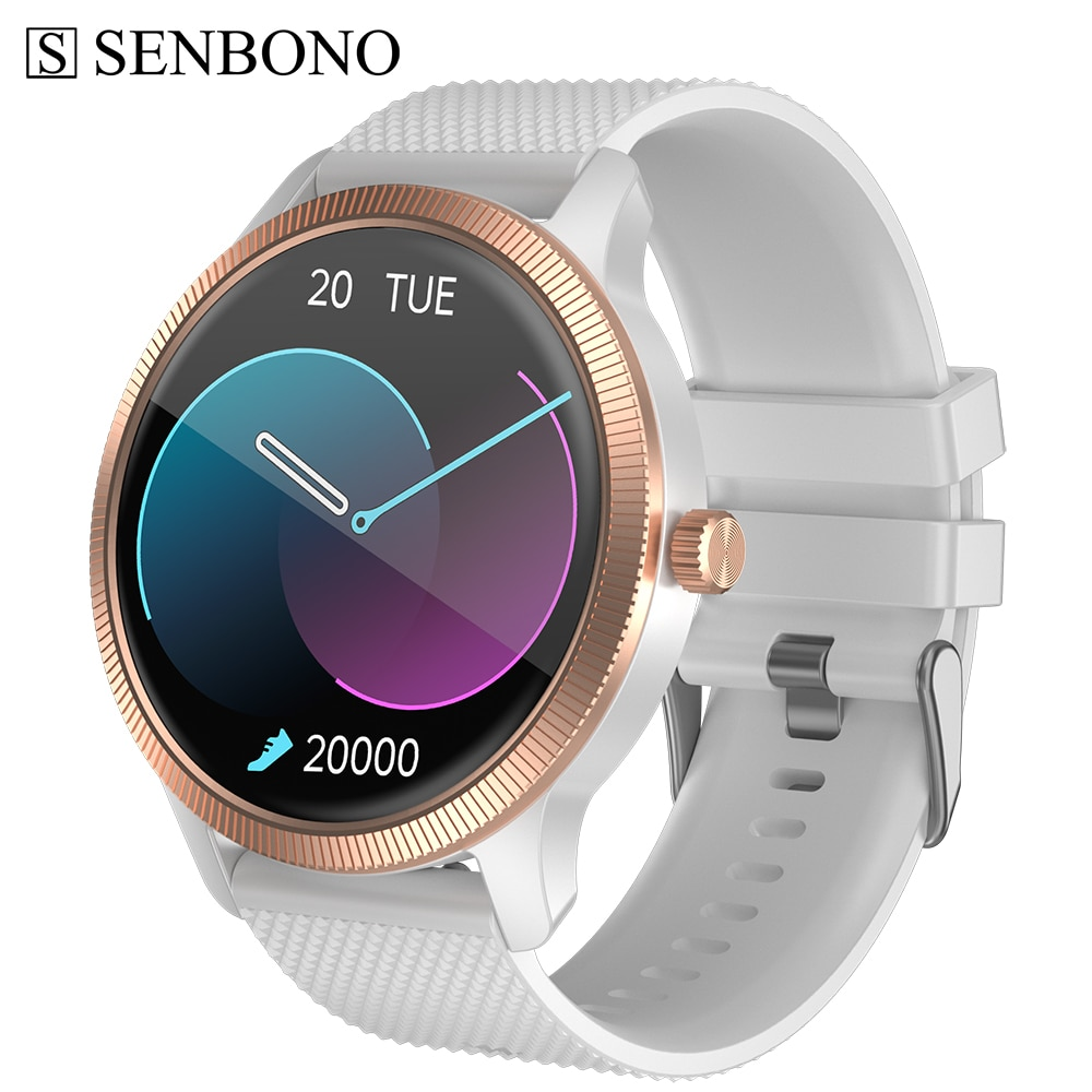SENBONO الرجال ساعة ذكية 2021 الإجابة الاتصال الهاتفي Smartwatch الرجال النساء 1.32 بوصة 360*360 شاشة ساعة الرياضة جهاز تعقب للياقة البدنية على مدار الساعة