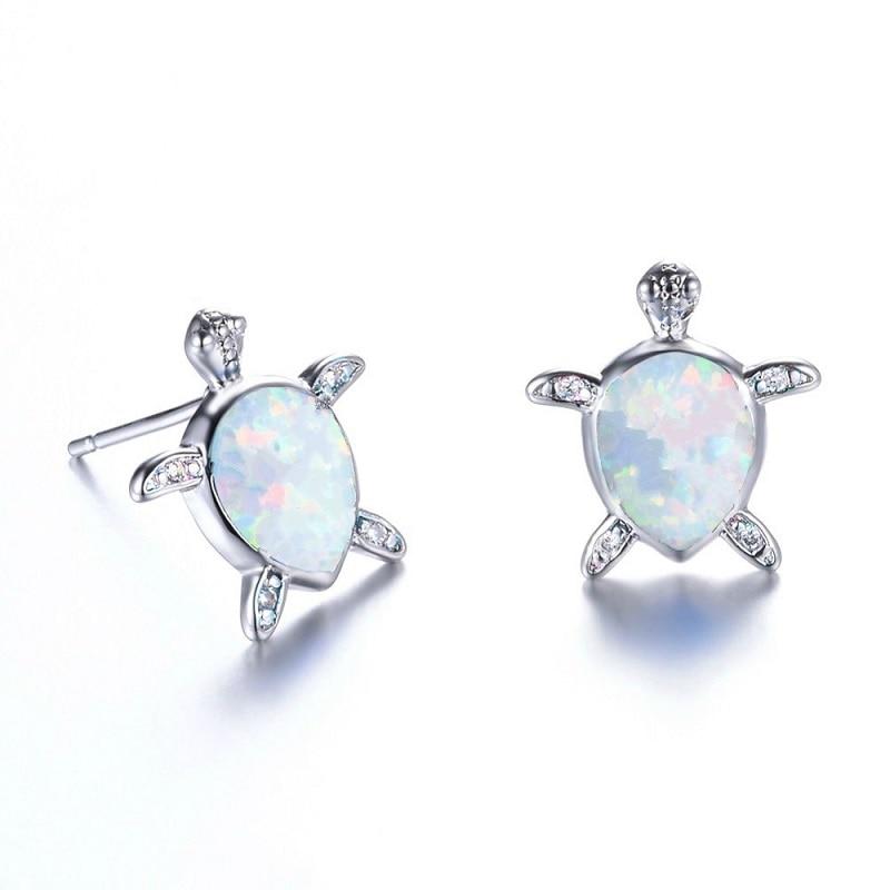 Hot Selling New Stylish Turtle Stud Earrings Women Jewelry Blue/White Earrings Women Wedding Birthday Christmas Gifts