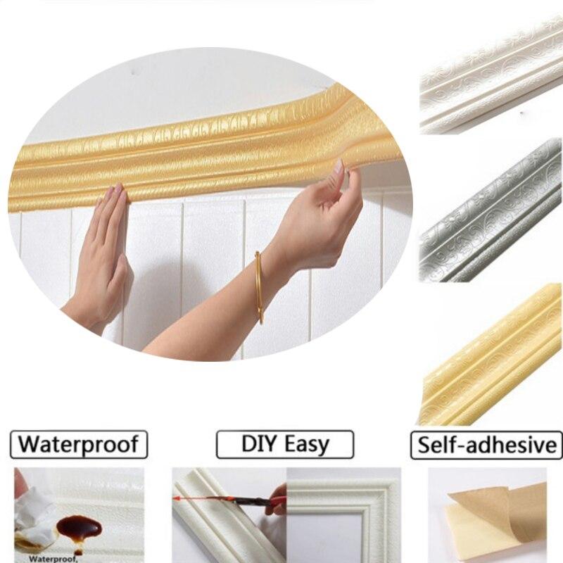 Pegatina extraíble 3d de 230cm, pegatinas de espuma autoadhesivas impermeables, papel tapiz, pegatina decorativa de pared