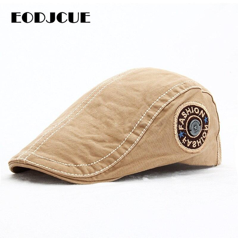 Boina bordada de moda de primavera y verano, sombreros para hombres y mujeres, gorra plana de hiedra, gorra para sol para aire libre, visera, sombreros de boina