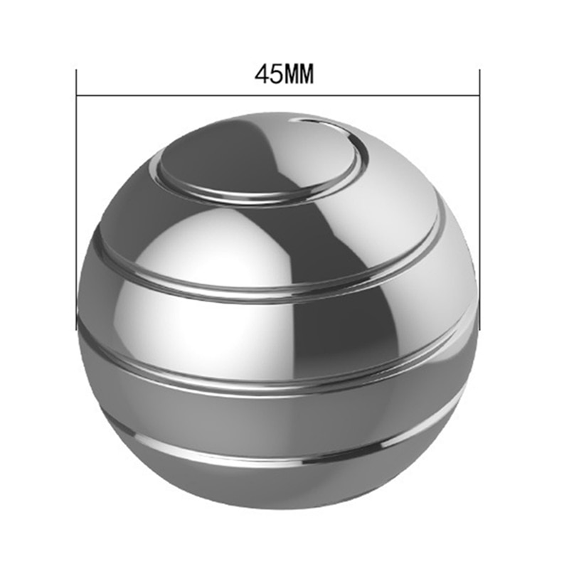 1PC Aluminum Alloy Completely Disassembled Rotating Decompression Toy Desktop Ball Transfer Gyroscope Office Adult/children Toy enlarge