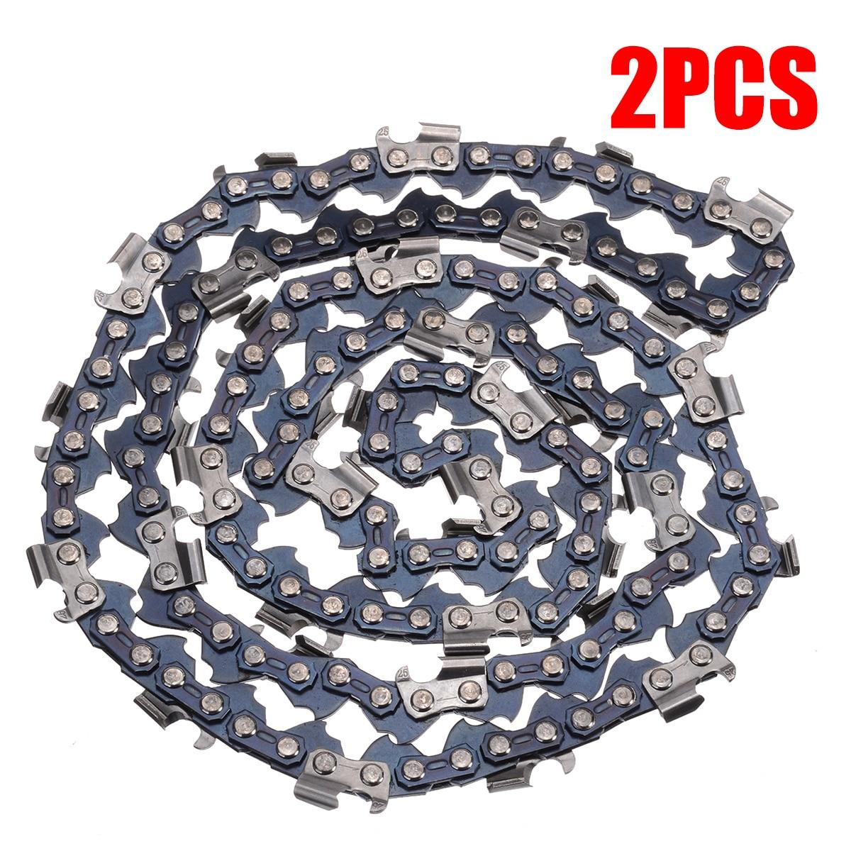 عدد 2 قطعة/المجموعة/مجموعة منشار بالمنشار 20 بوصة 76 وصلة محرك استبدال مطحنة تمزيق سلسلة شفرة الملعب 0.325