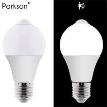 LED veilleuse PIR capteur de mouvement lumière Lampada lampe à LED ampoule 220V 110V 5W 7W Auto Smart IC infrarouge corps lumière Table LED ampoule