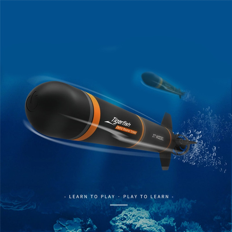 Electric RC Submarine Plastic Boat Torpedo Assembly Model Kits DIY Extracurricular Toys Kids Gifts E