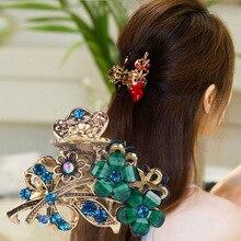 Pinzas de pelo para mujer, pinzas de pelo para niñas, herramientas de peinado, accesorios para el cabello, horquillas de flores, pasadores de cristal a la moda