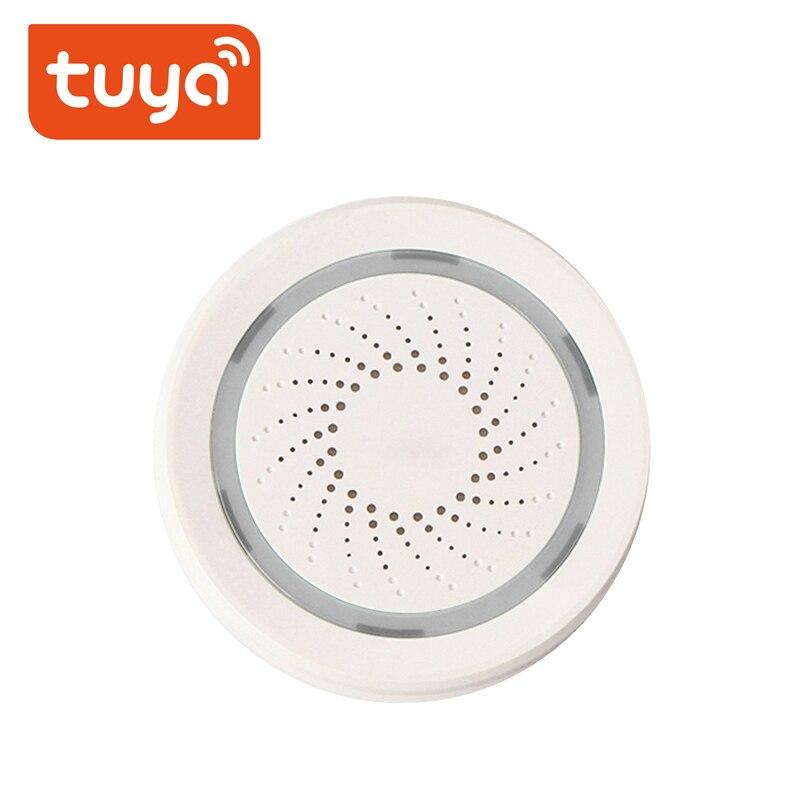 Tuay-صفارة إنذار ذكية مع مستشعر باب Tuya ، wi-fi ، مستشعر PIR/كاشف SOSWater ، متوافق مع تطبيق Alexa Google Home Smart life