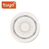 Tuay     sirene stroboscopique intelligente WiFi  fonctionne avec Tuya capteur de porte PIR    detecteur deau douce Compatible avec Alexa Google Home Smart life APP