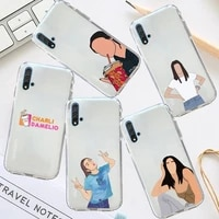 charli damelio net red phone case transparent for huawei honor p mate 40 20 30 10 50 i 9 x mate pro lite 8a