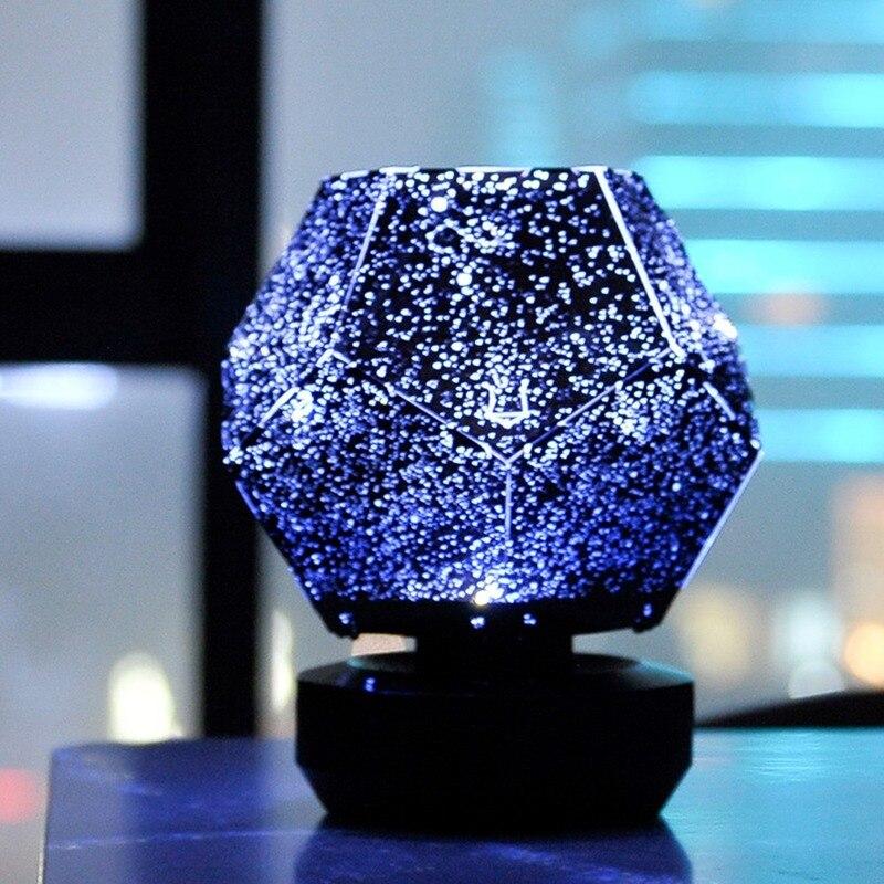 Светодиодный проектор звездного неба, ночники с 3D проекцией, ночник с USB-зарядкой, домашний планетарный декор для детской, спальни, комнатно...