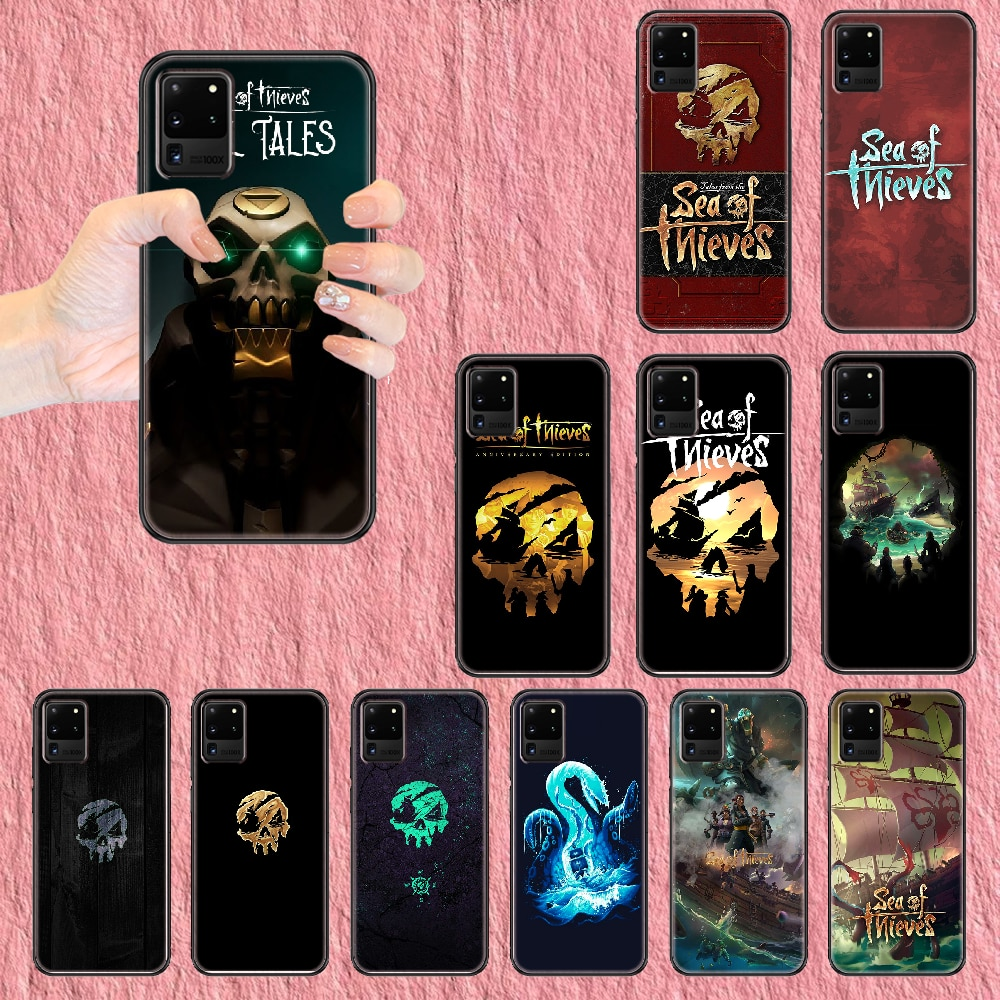 sea of thieves Phone case For Samsung Galaxy Note 4 8 9 10 20 S8 S9 S10 S10E S20 Plus UITRA Ultra black pretty back silicone