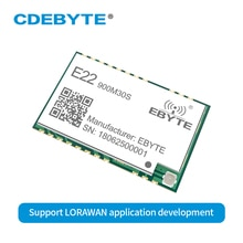 10 шт./лот SX1262 30dBm 915 МГц SMD SPI Беспроводной передатчик приемник E22 900M30S штамп отверстие антенна IPEX SPI длинный диапазон rf модуль