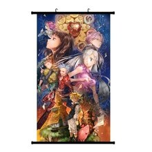 Anime los siete portátil Sin Nanatsu No Taizai Meliodas pared desplazamiento Mural cartel colgante de pared colección decoración de hogar
