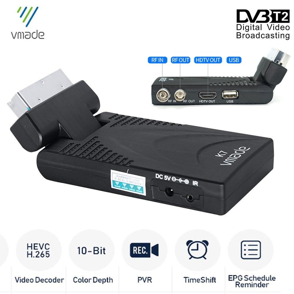 2020 New DVB-T2 DVB-T TV Receiver HD 1080P Digital TV Tuner Receptor DVB T2 H.265/HEVC Terrestrial WiFi USB Decoder Set Top Box недорого